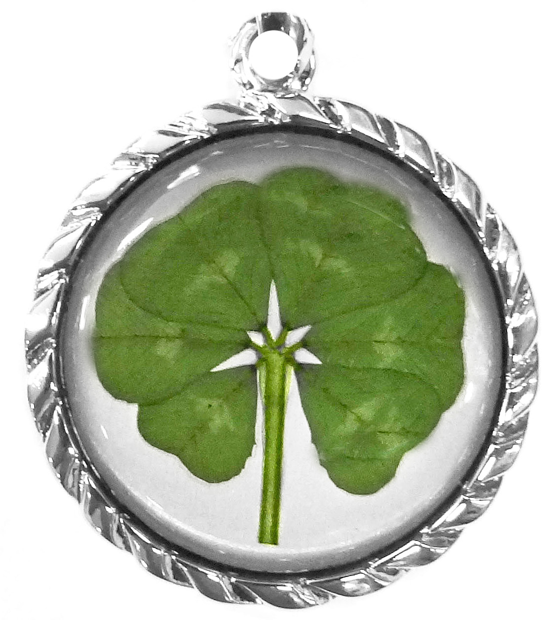 White Gold Plated Perfect Round 6 leaf clover (Mk 2) - SGD 310.40 ... a83bc1c5b2a